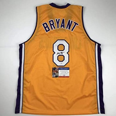 kobe bryant authentic jersey #8 signed