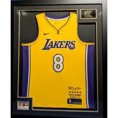 kobe bryant jersey number eight picture frame