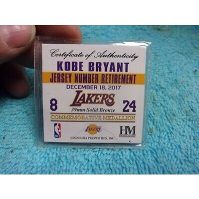 kobe bryant jersey number retirement coin