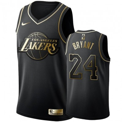 kobe lakers jersey black and gold